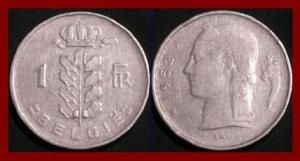 BELGIUM 1952 1 FRANC COIN KM#143.1 Europe - BELGIE Dutch Legend