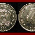 ECUADOR 1970 1 SUCRE COIN KM#78.b - Antonio Jose de Sucre - South America - XF BEAUTIFUL!