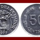ECUADOR 1977 50 CENTAVOS COIN KM#81 South America