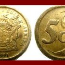 SOUTH AFRICA 1991 5 CENTS COIN KM#134 AFRICAN SUID TRIBAL LEGEND Blue Crane