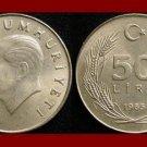 TURKEY 1985 50 LIRA COIN KM#966 Mustafa Kemal Ataturk - BEAUTIFUL!