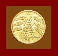 Weimar Republic GERMANY 1925(A) 5 REICHSPFENNIG COIN KM#39 Europe