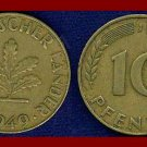 WEST GERMANY 1949(J) 10 PFENNIG COIN KM#103 Europe - Federal Republic of Germany - Post WWII Coin