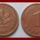WEST GERMANY 1982(J) 1 PFENNIG COIN KM#105 Europe - Federal Republic of Germany - Post WWII Coin