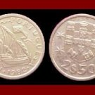 PORTUGAL 1982 2 1/2 (HALF) ESCUDOS COIN KM#590 Europe ~ Galleon Ship