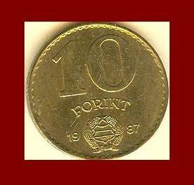 HUNGARY 1987 10 FORINT COIN KM#636 Europe