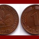 WEST GERMANY 1950(J) 10 PFENNIG COIN KM#105 Europe - Federal Republic of Germany - Post WWII Coin