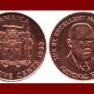 JAMAICA 1996 25 CENTS COIN KM#167 Caribbean - NATIONAL HERO MARCUS GARVEY