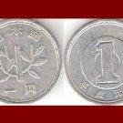 JAPAN 1961 1 YEN COIN Y#74 Emperor Hirohito - Showa Era Year 36