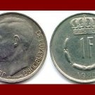 LUXEMBOURG 1980 1 FRANC COIN KM#55 - LOW MINTAGE!