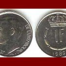 LUXEMBOURG 1986 1 FRANC COIN KM#59 Europe - XF - LOW MINTAGE!