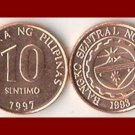 PHILIPPINES 1997 10 SENTIMOS COIN KM#270 Southeast ASIA