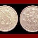 PORTUGAL 1984 2 1/2 (HALF) ESCUDOS COIN KM#590 Europe - Galleon Ship
