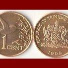 TRINIDAD & TOBAGO 1999 1 CENT BRONZE COIN KM#29 Caribbean - Balisier Hummingbird