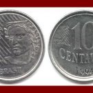 BRAZIL 1994 10 CENTAVOS COIN KM#633 South America