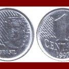 BRAZIL 1997 1 CENTAVO COIN KM#637 South America - XF BEAUTIFUL