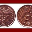 BRAZIL 1998 1 CENTAVO COIN KM#647 South America - Cabral - Galleon Ship