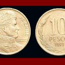 CHILE 1993 10 PESOS COIN KM#228.2 South America - Bernardo O'Higgins Riquelme