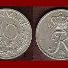 DENMARK 1971 10 ORE COIN KM#849.1 Europe - King Frederik IX