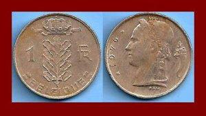 BELGIUM 1970 1 FRANC BELGIQUE COIN KM#142.1 Europe - French Legend
