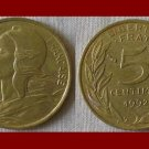 FRANCE 1992 5 CENTIMES COIN KM#933 Europe