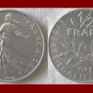FRANCE 1997 1/2 HALF FRANC COIN KM#931.1 Europe - XF BEAUTIFUL!