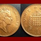 England United Kingdom Great Britain UK 1994 1 ONE PENNY COIN KM#935a Crowned Porticullis