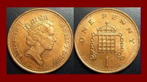 England United Kingdom Great Britain UK 1993 1 ONE PENNY