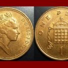 England United Kingdom Great Britain UK 1987 1 ONE PENNY BRONZE COIN KM#935 Crowned Porticullis