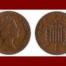 England United Kingdom Great Britain UK 1986 1 ONE PENNY BRONZE COIN KM#935 Crowned Porticullis