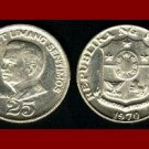 PHILIPPINES 1970 25 SENTIMOS COIN KM#199 Southeast ASIA - Juan Luna