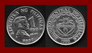 PHILIPPINES 1998 1 PISO COIN KM#269 Southeast ASIA - National Hero Dr Jose Rizal