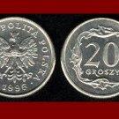 POLAND 1996 20 GROSZY COIN Y#280 Europe - XF - BEAUTIFUL!