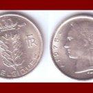 BELGIUM 1975 1 FRANC BELGIQUE COIN KM#142.1 Europe - French Legend