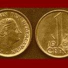 NETHERLANDS 1963 1 CENT BRONZE COIN KM#180 Europe Queen Juliana