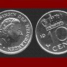NETHERLANDS 1970 10 CENTS BRONZE COIN KM#183 XF Europe Queen Juliana