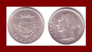 BELGIUM 1958 1 FRANC BELGIE COIN KM#143.1 Europe - Dutch Legend