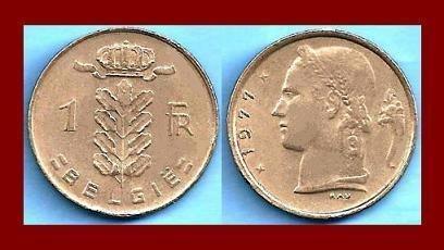 BELGIUM 1977 1 FRANC BELGIE COIN KM#143.1 Europe - Dutch Legend