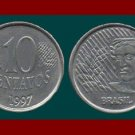 BRAZIL 1997 10 CENTAVOS COIN KM#633 South America - XF BEAUTIFUL