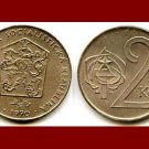 CZECHOSLOVAKIA 1990 2 KORUNY KCS COIN KM#75 Europe