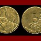 BELGIUM 1986 5 FRANCS BELGIQUE COIN KM#163 Europe - French Legend