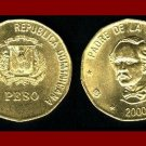 DOMINICAN REPUBLIC 2000 1 PESO COIN KM#80.3 Caribbean - Juan Pablo Duarte