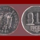 ECUADOR 1991 10 SUCRES COIN KM#92.2 South America - XF - Venus Fertility Idol
