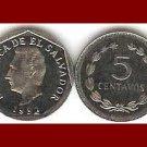 EL SALVADOR 1992 (g) 5 CENTAVOS COIN KM#154b Central America - XF Beautiful