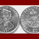 HAITI 1991 20 CENTIMES COIN KM#152 Caribbean - UNC AU - National Hero Charlemagne Peralte