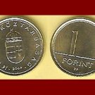 HUNGARY 2007 1 FORINT BRASS COIN KM#692 Europe - XF BEAUTIFUL!