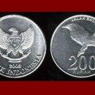 INDONESIA 2003 200 RUPIAH COIN KM#66 Eurasia - Jalak Bali Starling Bird