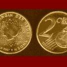 NETHERLANDS 2000 2 EURO CENT COIN KM#235 Queen Beatrix - European Union