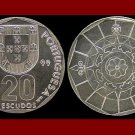 PORTUGAL 1999 20 ESCUDOS COIN KM#634 Europe - UNC AU - BEAUTIFUL!