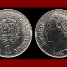 VENEZUELA 1990 (mm) 1 BOLIVAR COIN Y#52a.2 South America - XF BEAUTIFUL!